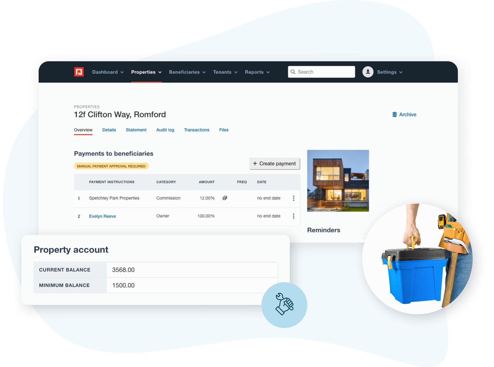 Property account feature